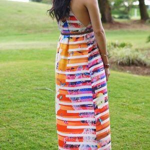 Clover Canyon tropical print maxi dress maternity